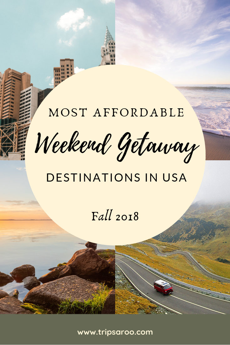 Check out our Top Picks for Cheap Weekend Getaway Destinations n the USA.   Top recommendations as of 2018.  These places are perfect for families, couples and even solo travelers. We recommend taking a Road Trip to save a lot of money in transportation, then we name the cheapest and free attractions by destination.