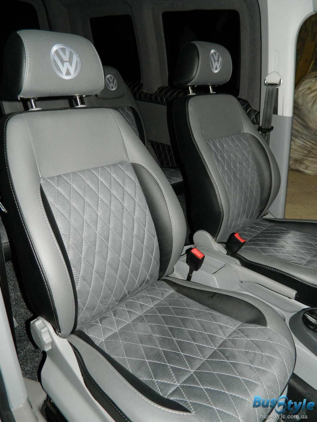 MERCEDES SPRINTER VW CRAFTER   VAN SEAT COVER  DARK GREY ALCANTARA PERFECT FIT