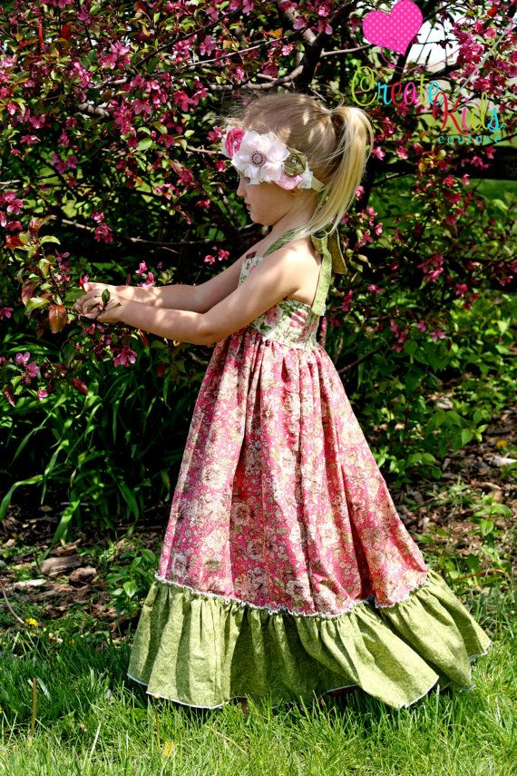 Peony's heartshaped bodice maxi dress PDF pattern sizes 6-12 months up to size 8!