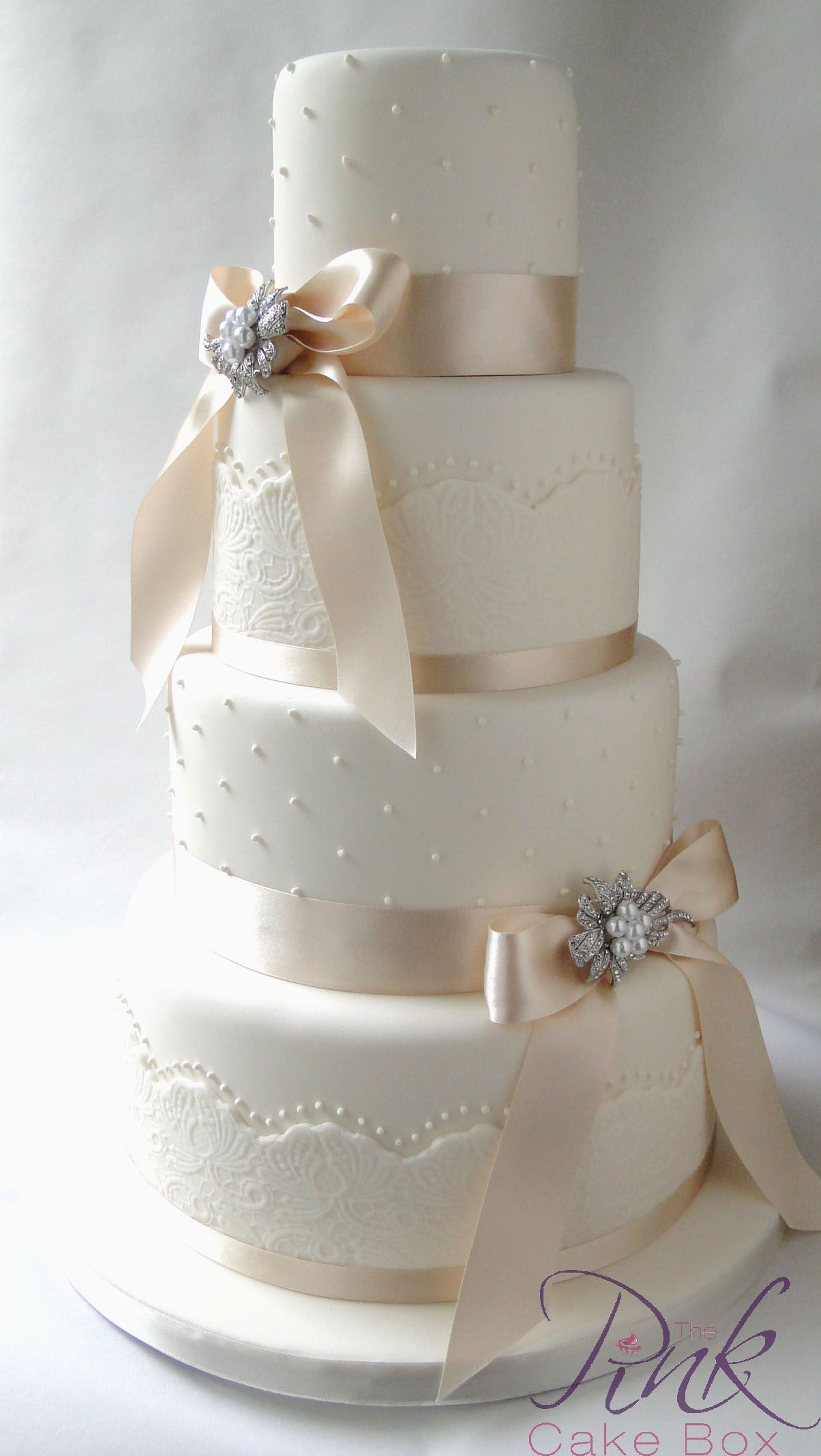 Cake Champagne Bow Wedding