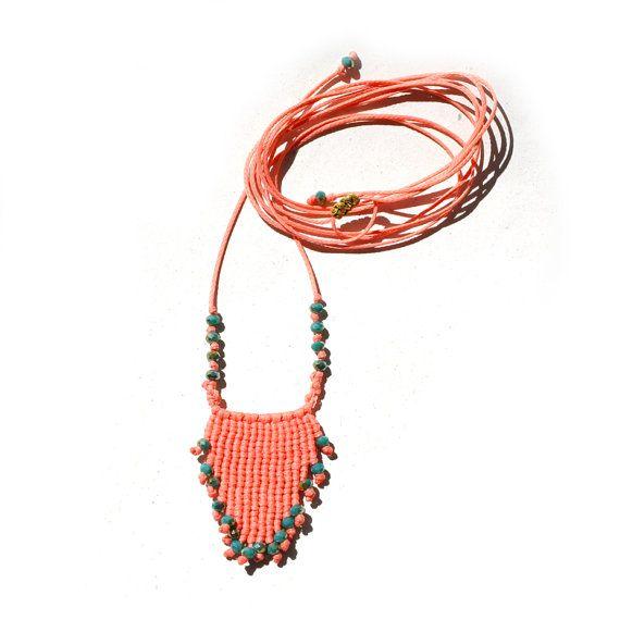 Macrame jewelry macrame necklace boho necklace beaded
