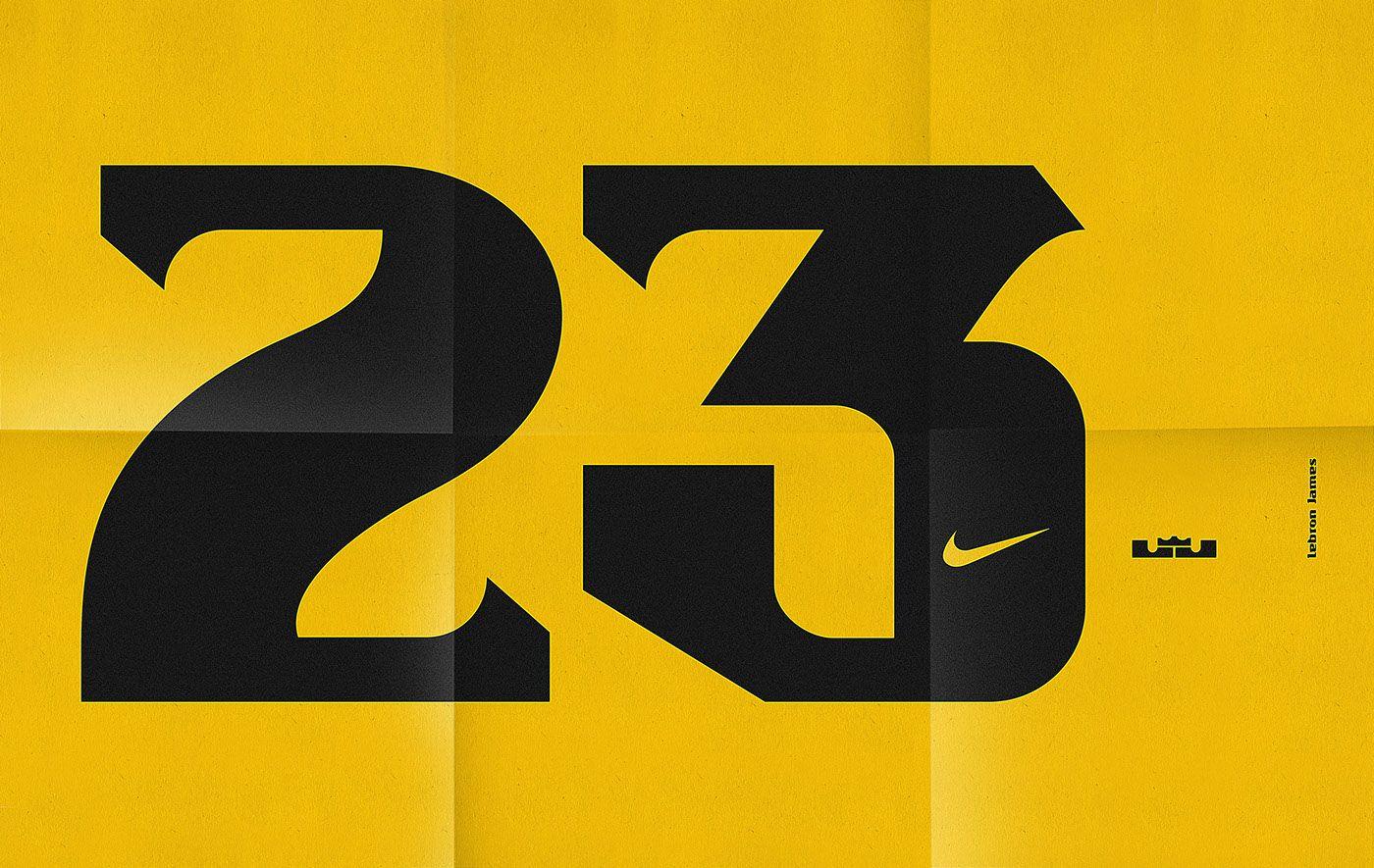Display typeface for NBA basketball player LeBron James