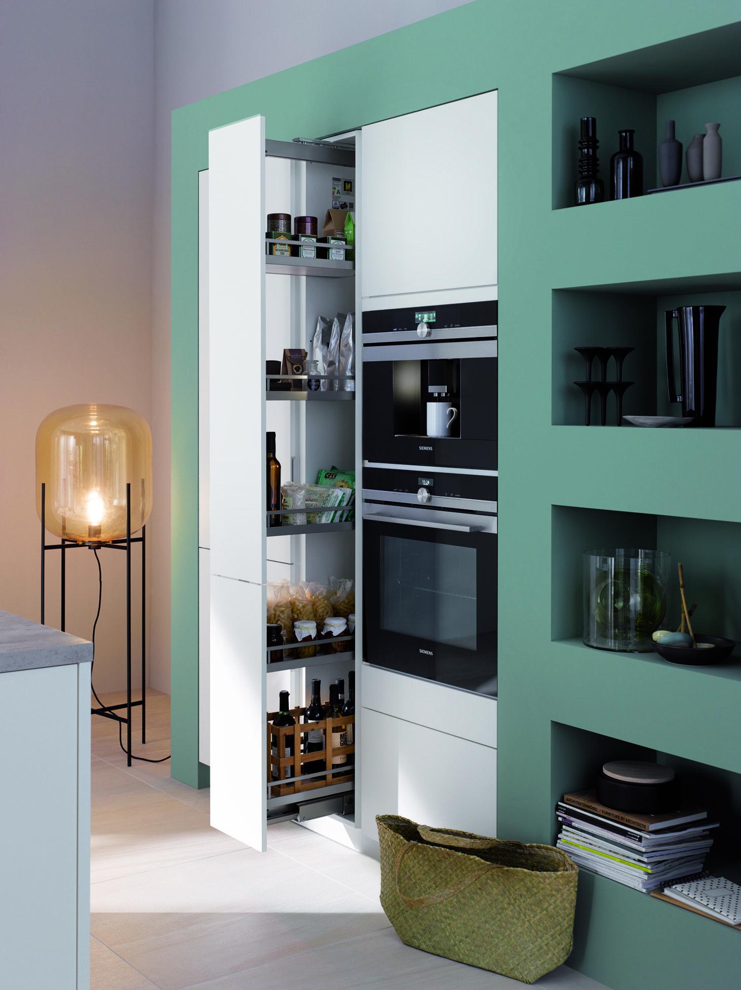 Turkis Weiss Kuche Moderne Minimal Kuche Und Wohnzimmer Mit