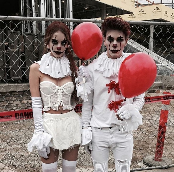 Stuck of a Halloween costume for you and your partner? We've got some amazing ideas on Hitched, including these matching Pennywise from IT costumes this Halloween. And yes, the red balloon is essential. For everything from Disney Halloween costumes to spooky makeup ideas, these are the best couples Halloween costumes for 2019.