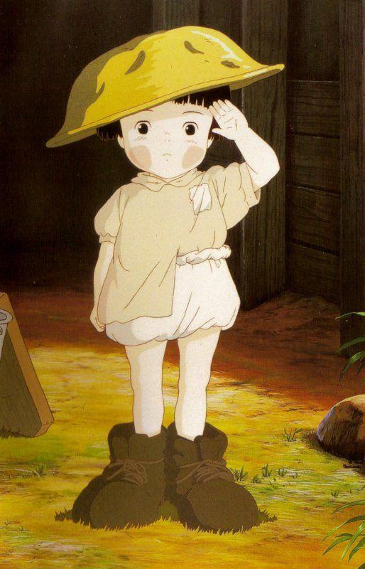 Setsuko Grave Of The Fireflies Animasi Poster Abstrak Ilustrasi