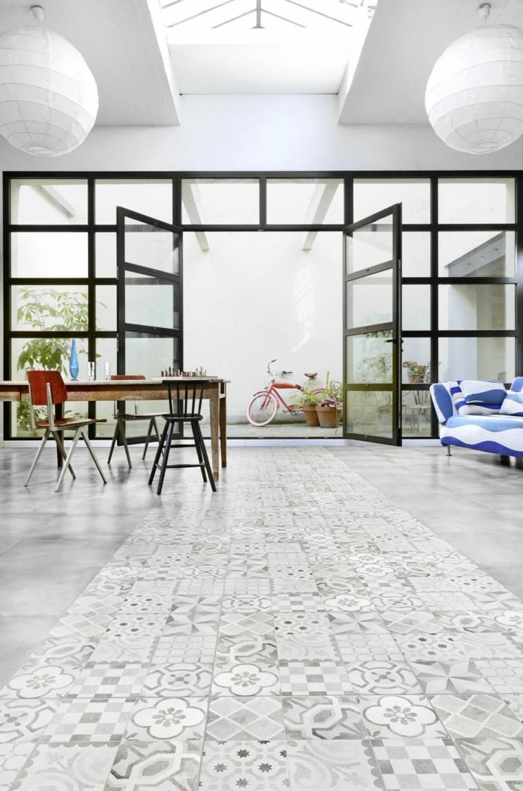 Interior Design Haus 2018 Böden mit Zement-Zement-Fliesen ...