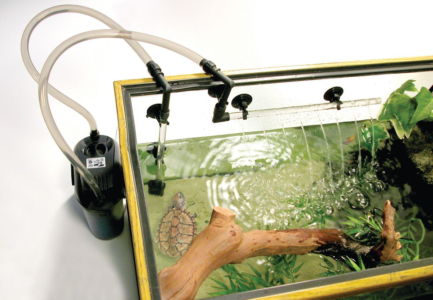 External canister filter for gallon turtle tanks vivariums box
