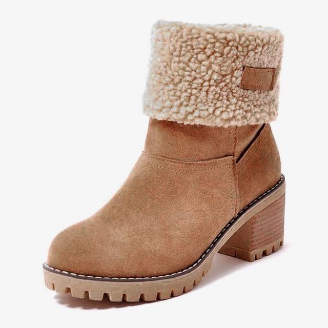 Women's Block Heel Snow Boots #inspireuplift explore Pinterest