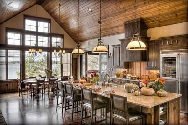 Rustic Houses Design Ideas Kitchen decor Pinterest House