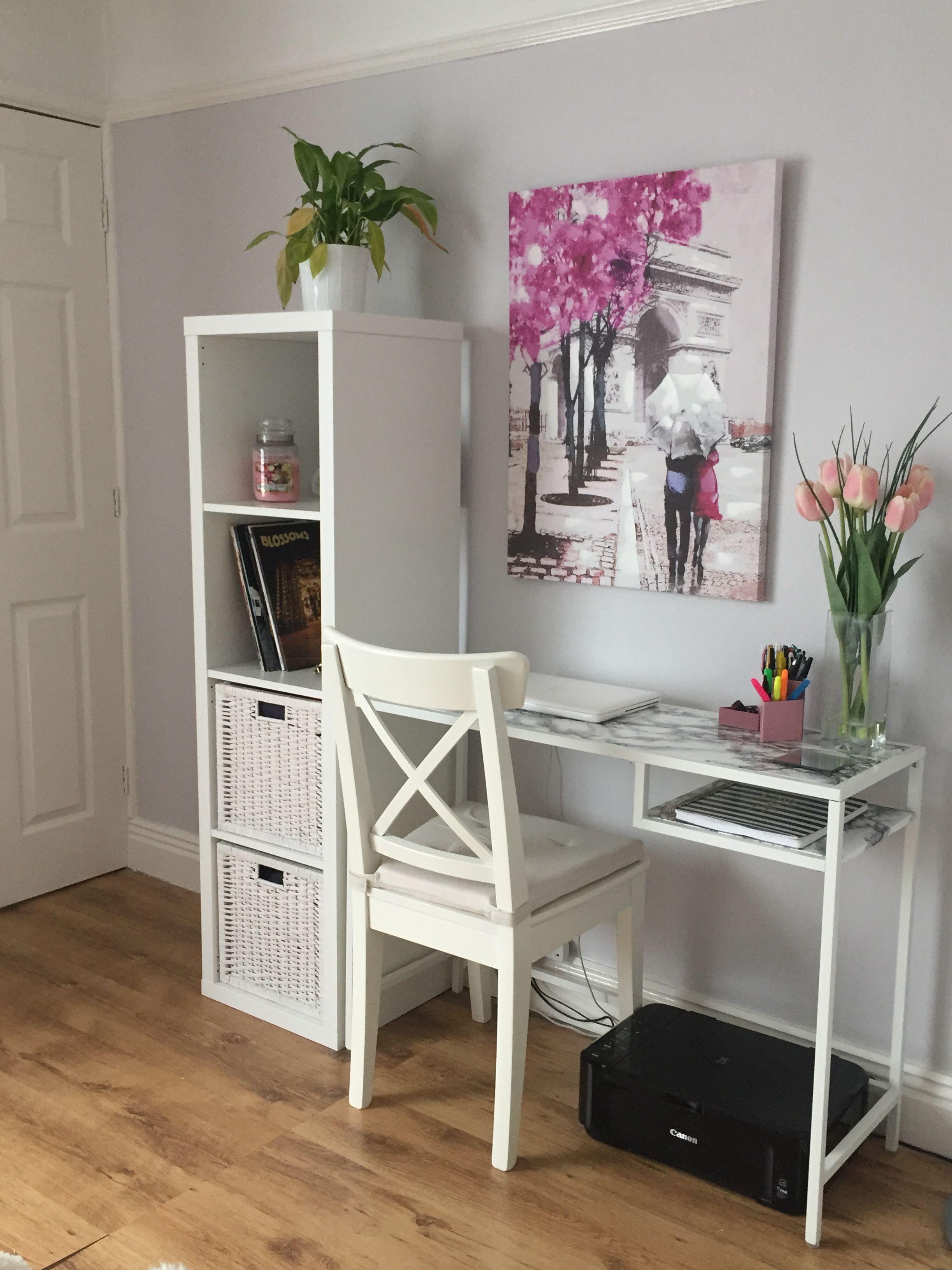 Ikea Hack Vittsjo Desk Marble Desk In Living Room Home Office Decor Home Decor