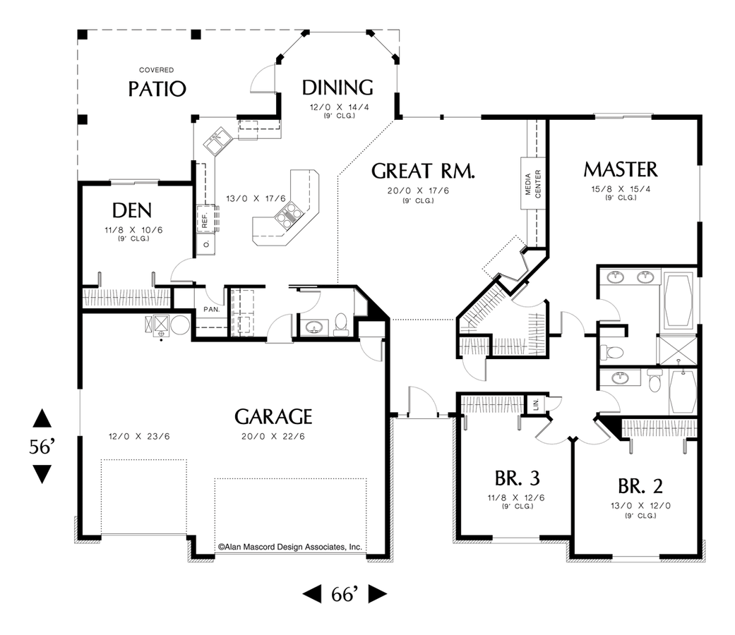 Plan 1228B The Emily House plans one story, Ranch