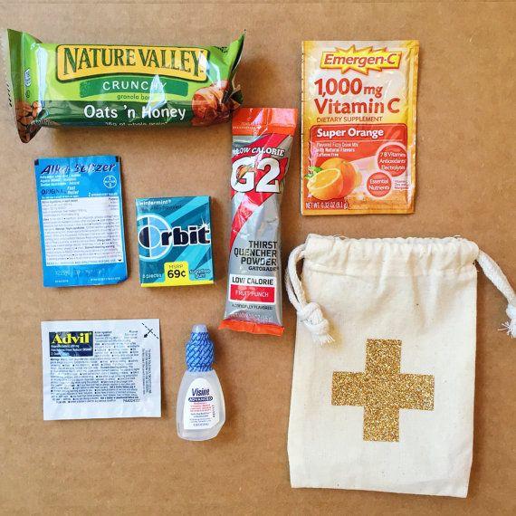 Glitter Hangover Total Kit Complete 4x6 Bag Bachelorette Favor Party