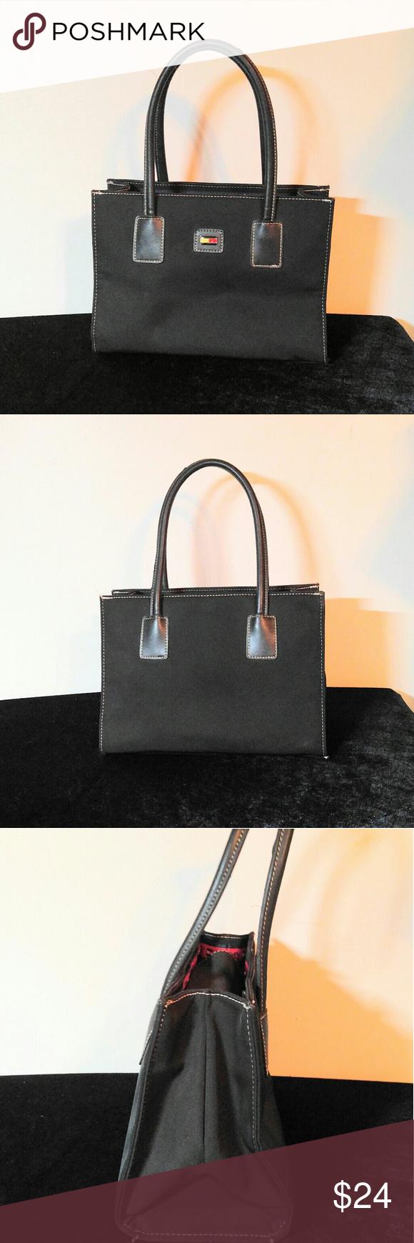 Cute Black Tommy Hilfiger Purse-LIKE NEW!! Tommy Hilfiger Purse- Like New!! 10.5 X 8 with a 7 inch drop. Tommy Hilfiger Bags