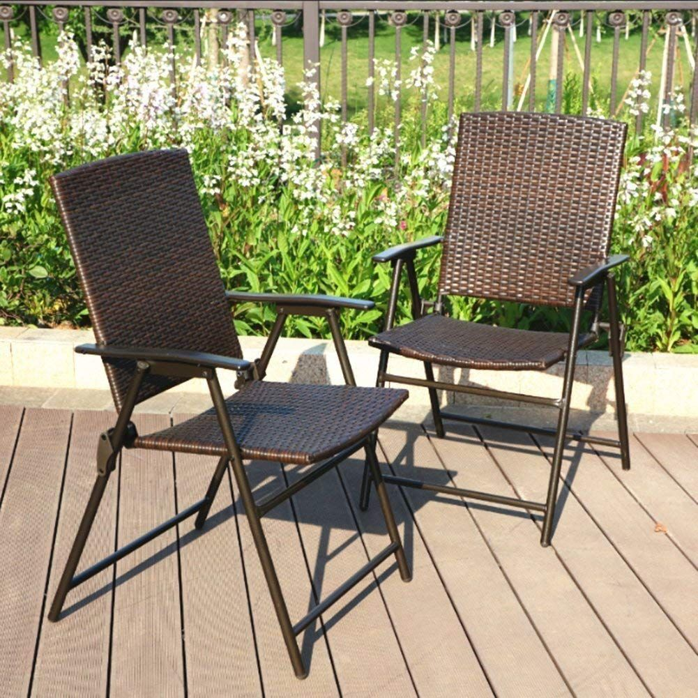 Wicker Chairs Indoor Phi Villa Patio Rattan Folding Chair Indoor Outdoor Wicker Chair