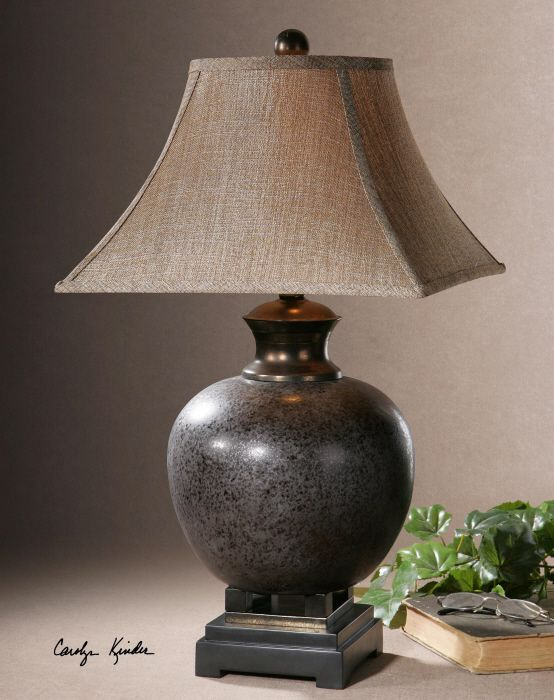 Villaga mottled rust brown glaze with black accents and dark villaga mottled rust brown glaze with black accents and dark bronze details the rustic table lampslamp mozeypictures Images