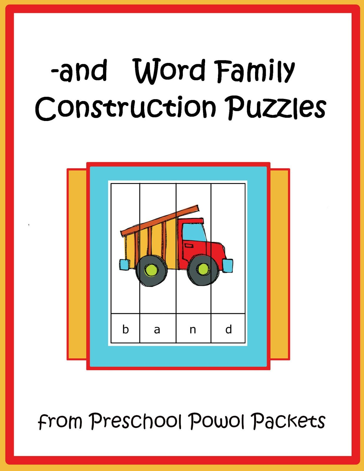 Free And Word Family Construction Puzzles