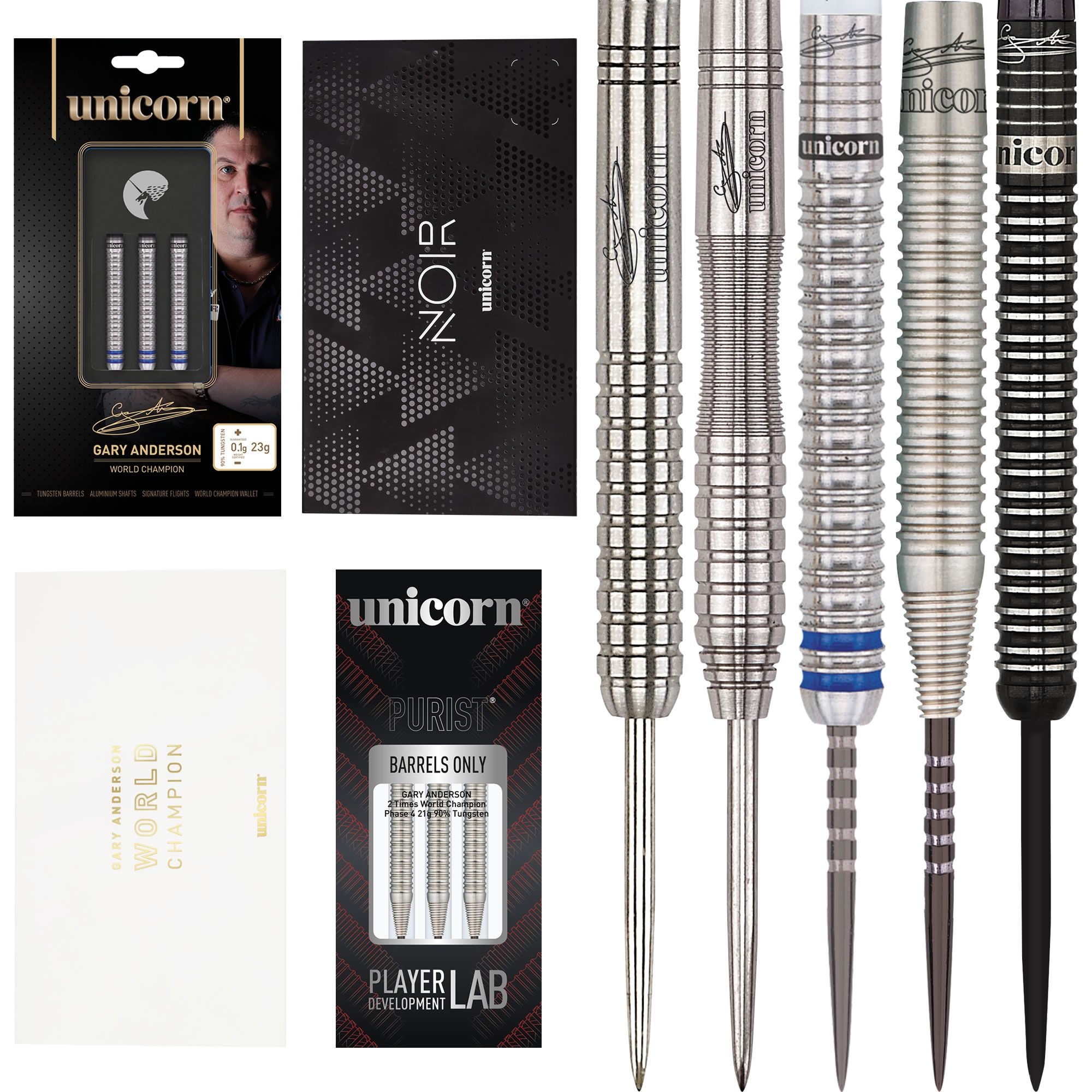 Endorsed by the 2 x pdc world champion gary anderson