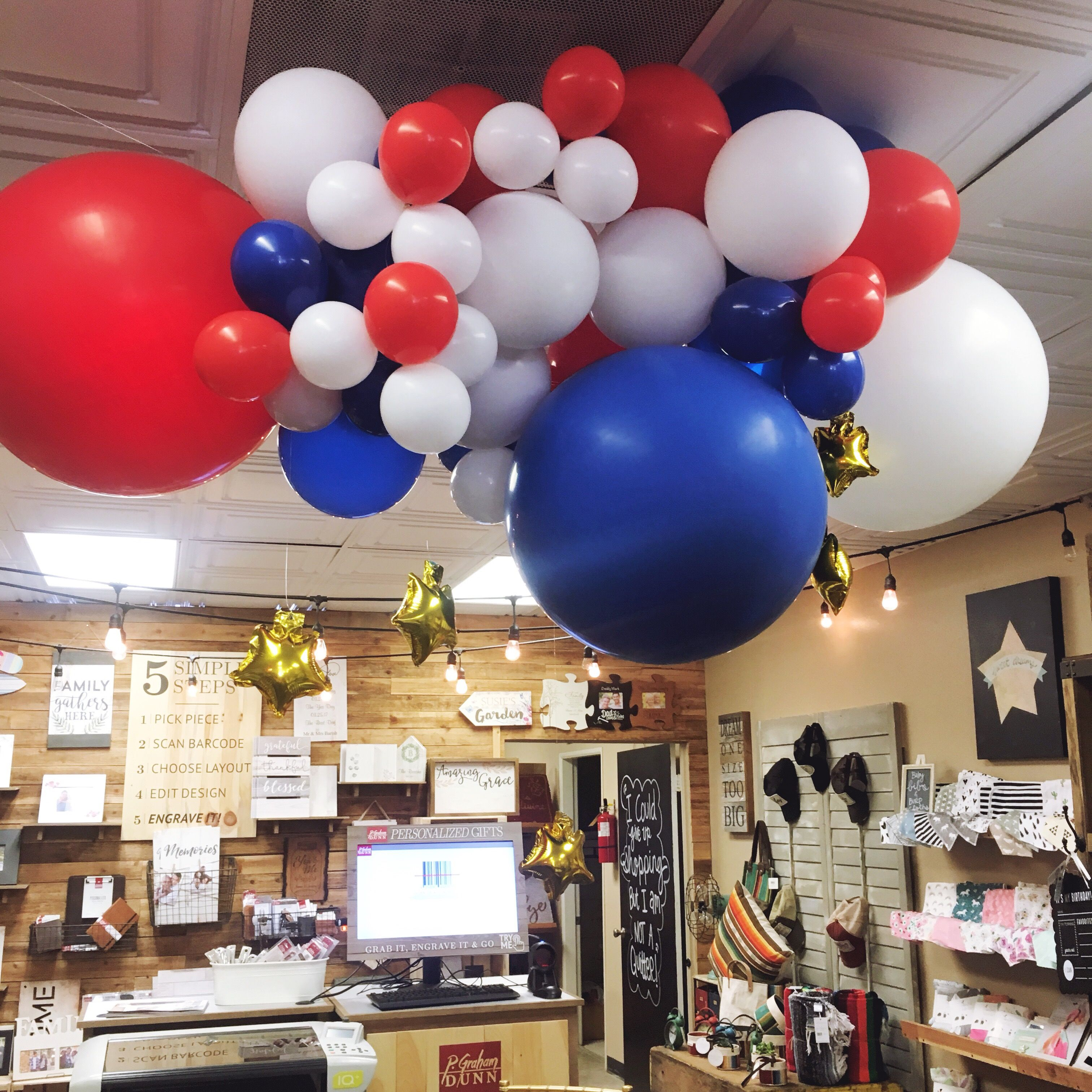 4th Of July Balloon Install For The Better Half Boutique In Long