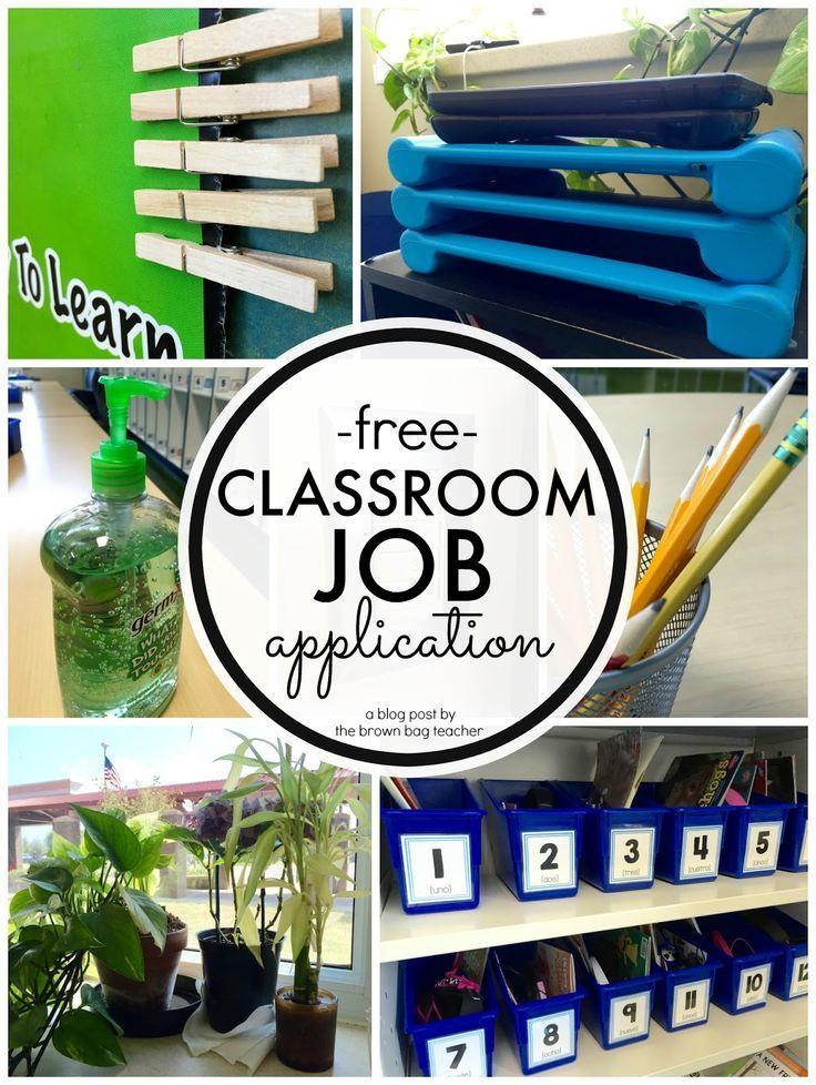 Classroom Jobs in 1st Grade Classroom jobs, Classroom job - free job application