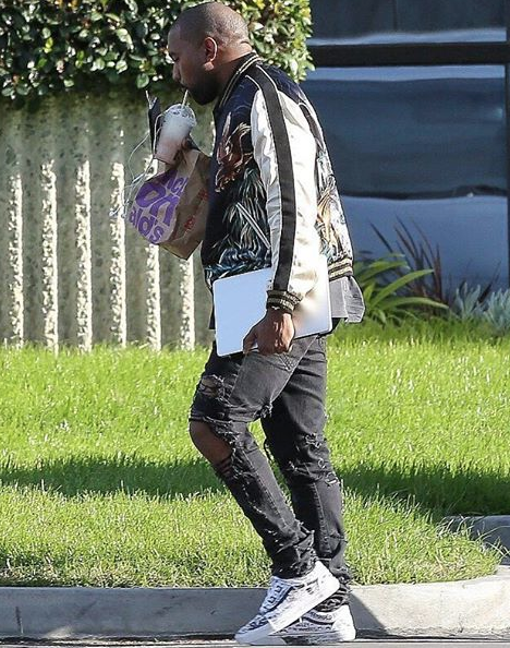 a19e1cf84 Kanye West rocking Custom Unreleased Vans
