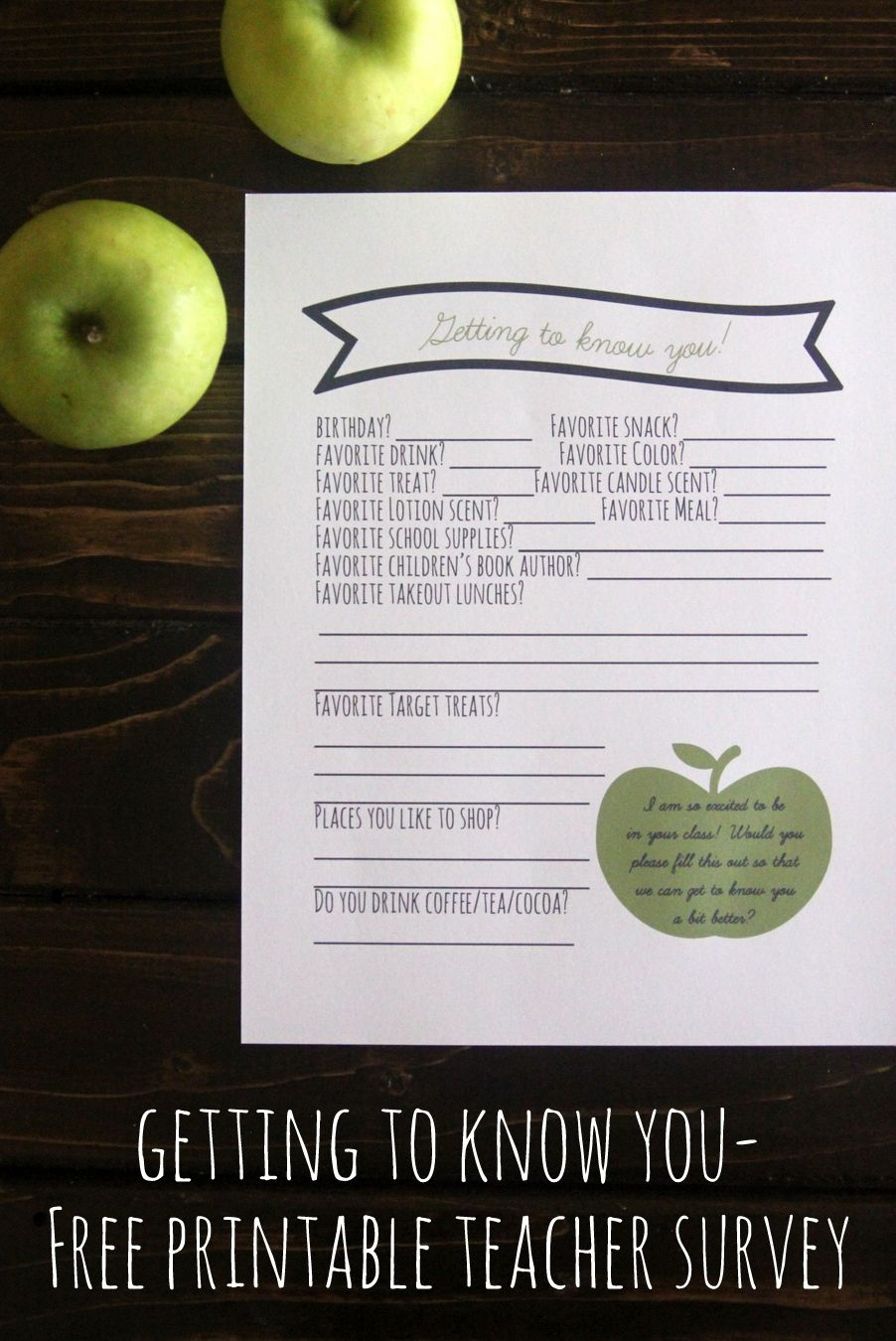 free printable teacher survey get to know your teacher s likes