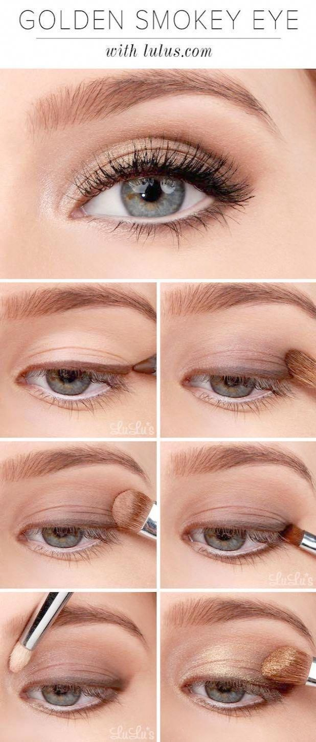 Photo of Makeup tutorials for Blue Eyes -Lulu Instructions: Golden Smokey Eyeshadow Tutori …