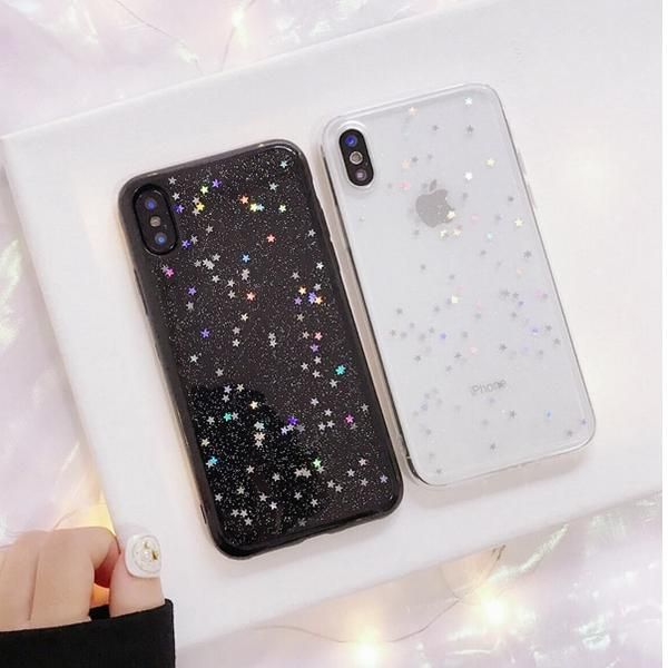 coque iphone xs silicone glitter