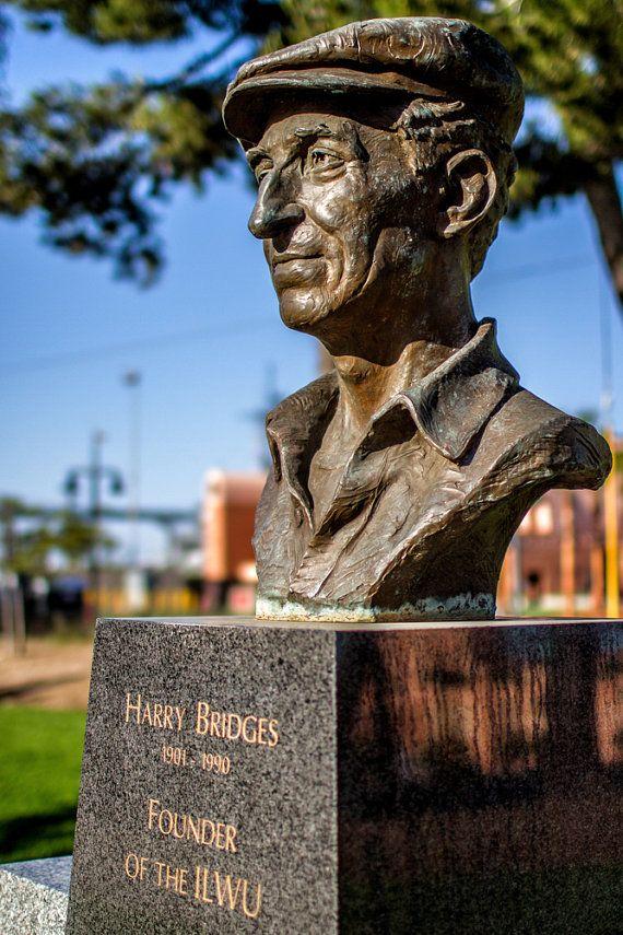 Harry Bridges Memorial Founder of ILWU San Pedro by ArleneCarley