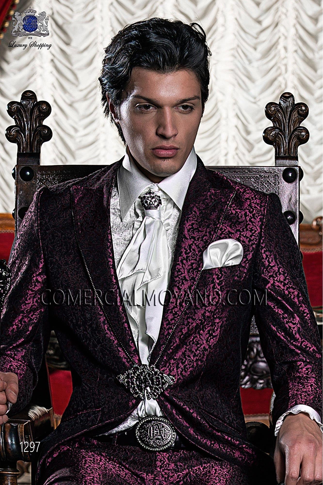 mens ruffled suit Google Search Black suit wedding