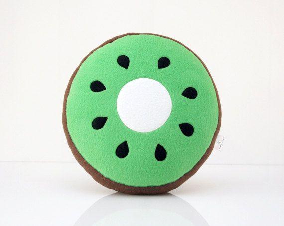 Kiwi Pillow - Kiwi Cushion   DIY   Pinterest   Nähen
