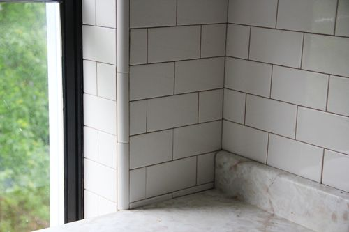 Is This Tile Installation Acceptable Tile Installation Subway Tile Beveled Subway Tile