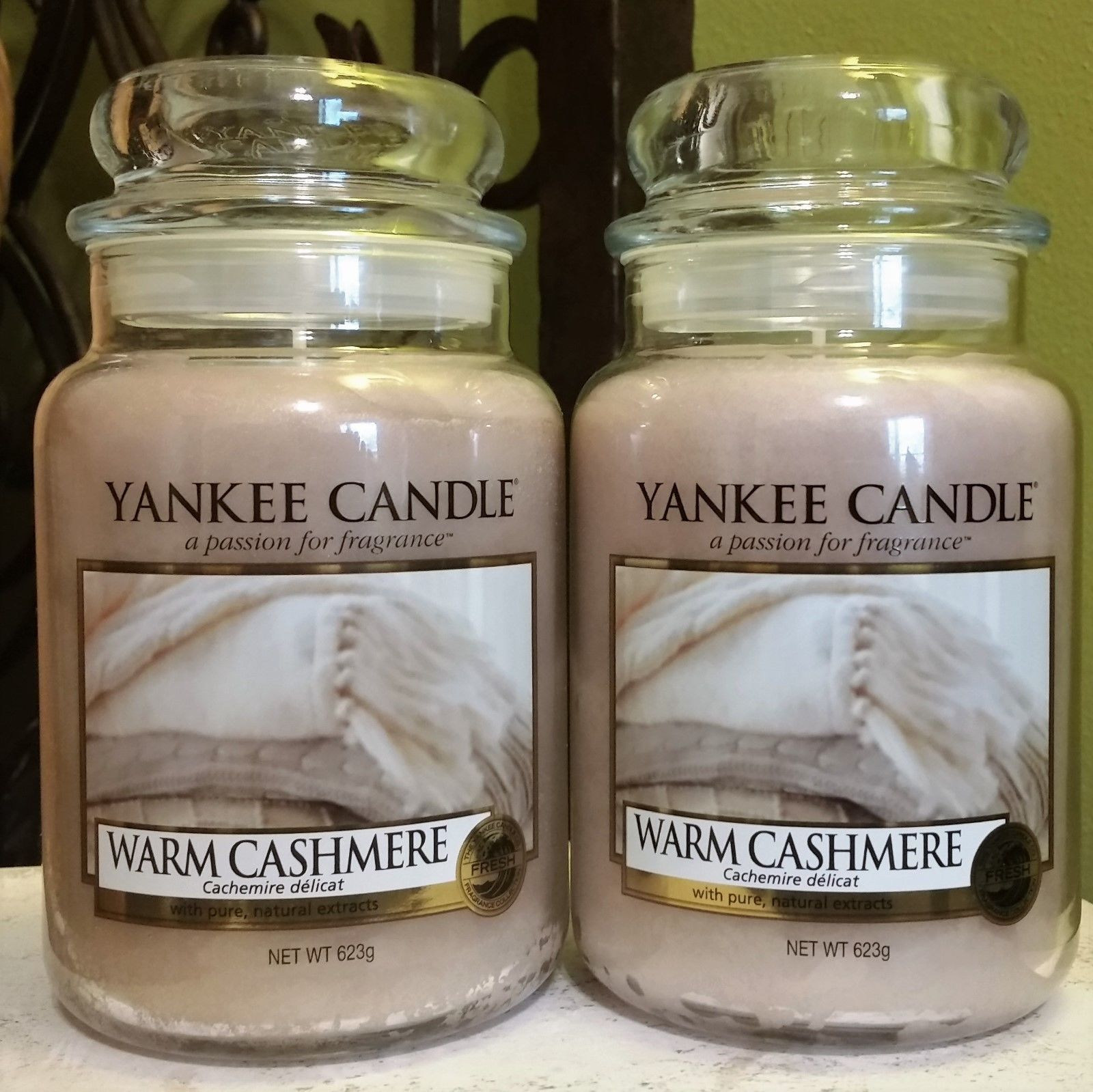 Candles yankee candle warm cashmere oz lot of two large
