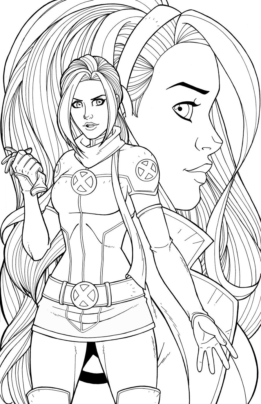Rogue Commission Superhero Coloring Marvel Coloring Cartoon Coloring Pages