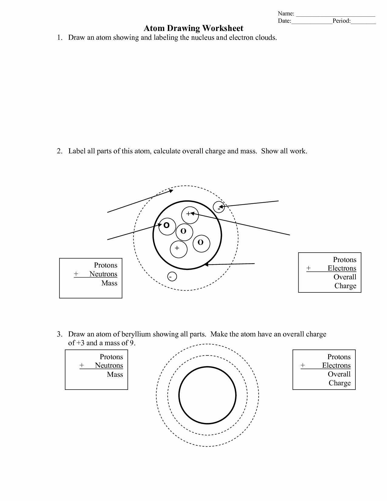 Drawing Atoms Worksheet Answer Key Inspirational Bohr