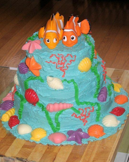 little mermaid cake Kid party ideas Pinterest Homemade