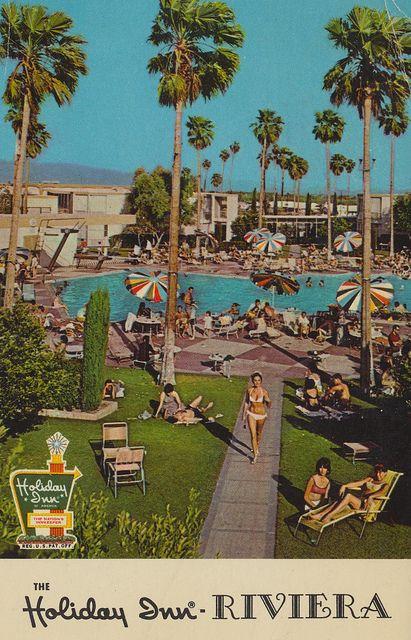 Holiday Inn Riviera Palm Springs California Vintage Postcard Via Flickr