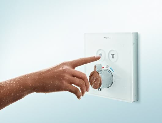Hansgrohe ShowerSelect Thermostats now feature high-quality glass ...