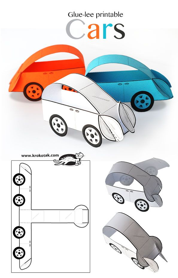 Car Craft For Kids Part - 47: Paper Printable Cars Más. Crafts For KidsPaper ...