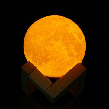8cm Touch Sensor 3d Moon Table Lamp Usb Color Changing Led Luna Night Light Kids Gift Indoor Lighting From Lights Lighting On Banggood Com Night Light Kids Color Changing Led Night