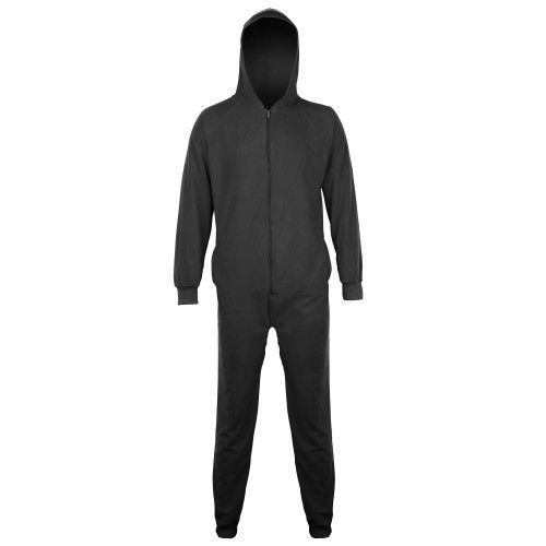 Kinder Unisex Winter Fleece-Hausanzug / Schlafanzug mit Kapuze