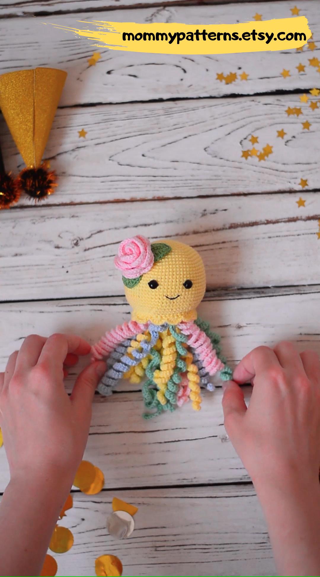 CROCHET PATTERN Octopus / Crochet pattern Baby Octopus / Amigurumi pattern / Amigurumi animals / Crochet pattern toy