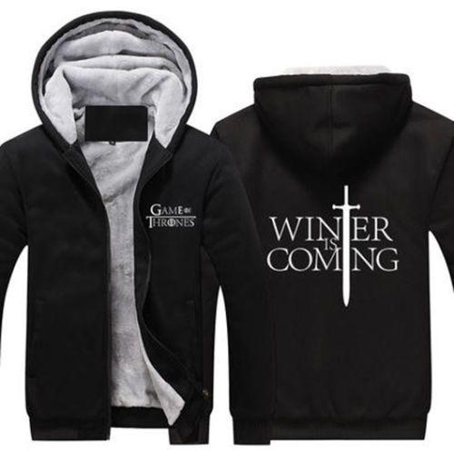 773c8842 Game Of Thrones winter is coming Fleece Zip up zipper mens Hoodie ...