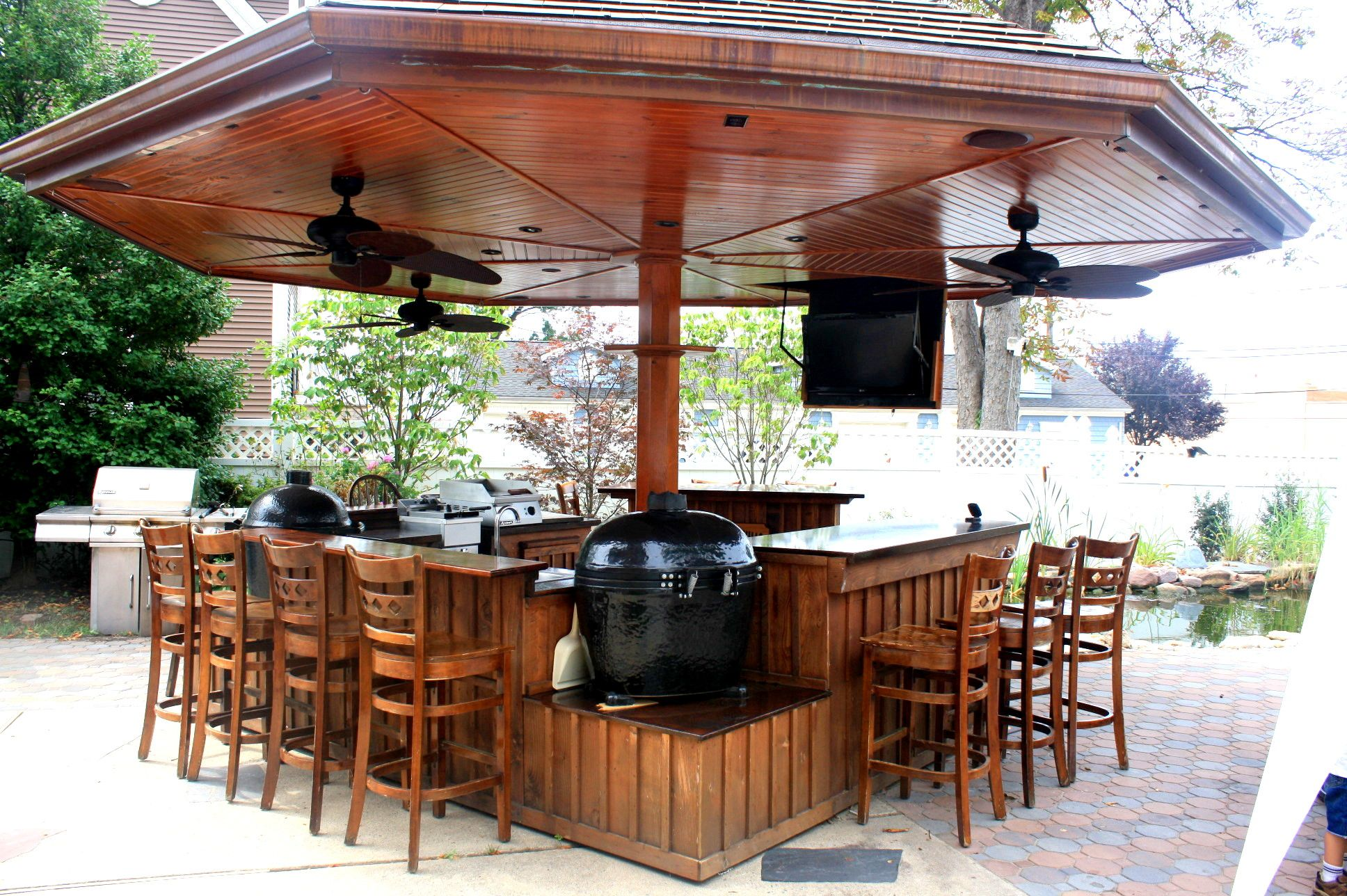 Outdoor Kitchen We Built For The Big Green Egg Or Kamado