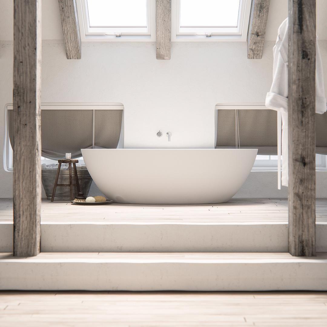 Our Spacious White Corian Bathtub Salinas Named After The Famous Salt Flats Of Ibiza In A Combi Bathroom Design Luxury Black Bathroom Minimalist Bathroom Bathroom redecorating ideas png