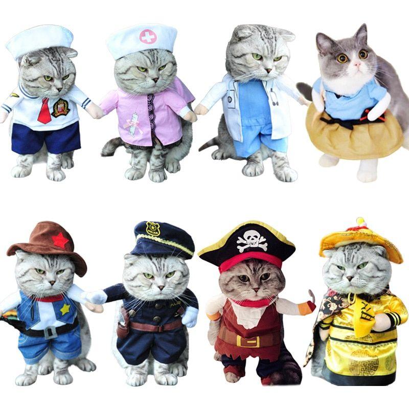 Cheap Funny Cat Clothes Buy Quality Cat Clothes Directly From China Clothes For Cats Suppliers Ropa De Gato Diver Trajes De Gato Ropa De Gato Disfraz De Gato