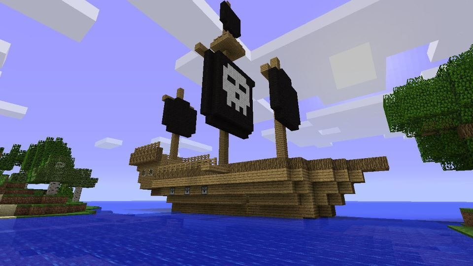 пират в майнкрафт постройка такая фигулина