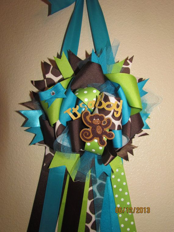 Baby Shower Mommy To Be Corsage Mum Door By KhloesKustomKreation, $20.00