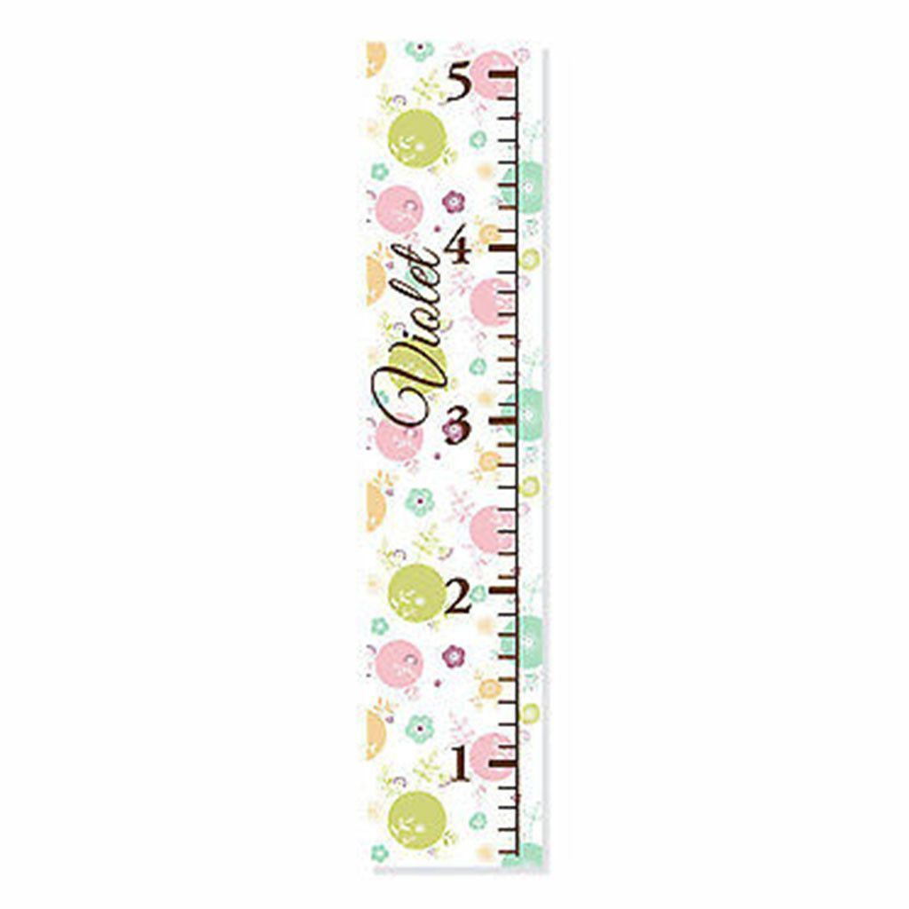 Flowers and polka dots personalized canvas growth chart growth flowers and polka dots personalized canvas growth chart nvjuhfo Gallery