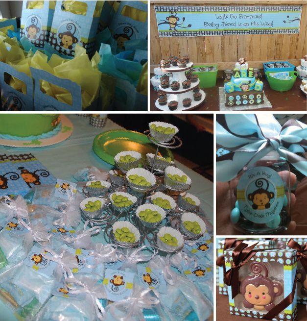 monkey boy party ideas  favors  decorations  monkey boy baby, Baby shower invitation
