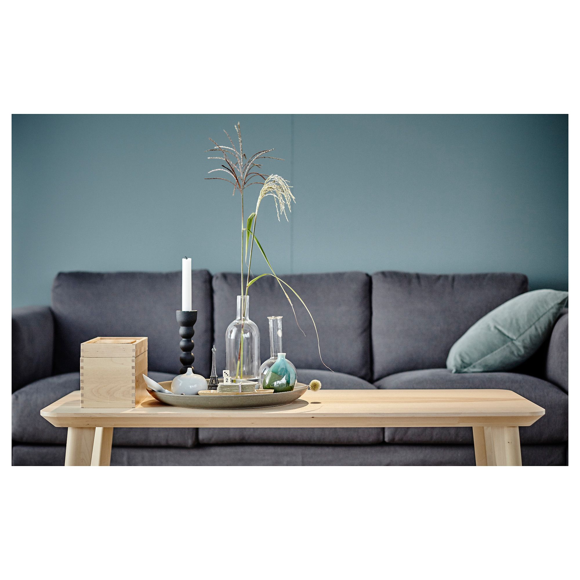 IKEA LISABO Coffee table ash veneer Living room table